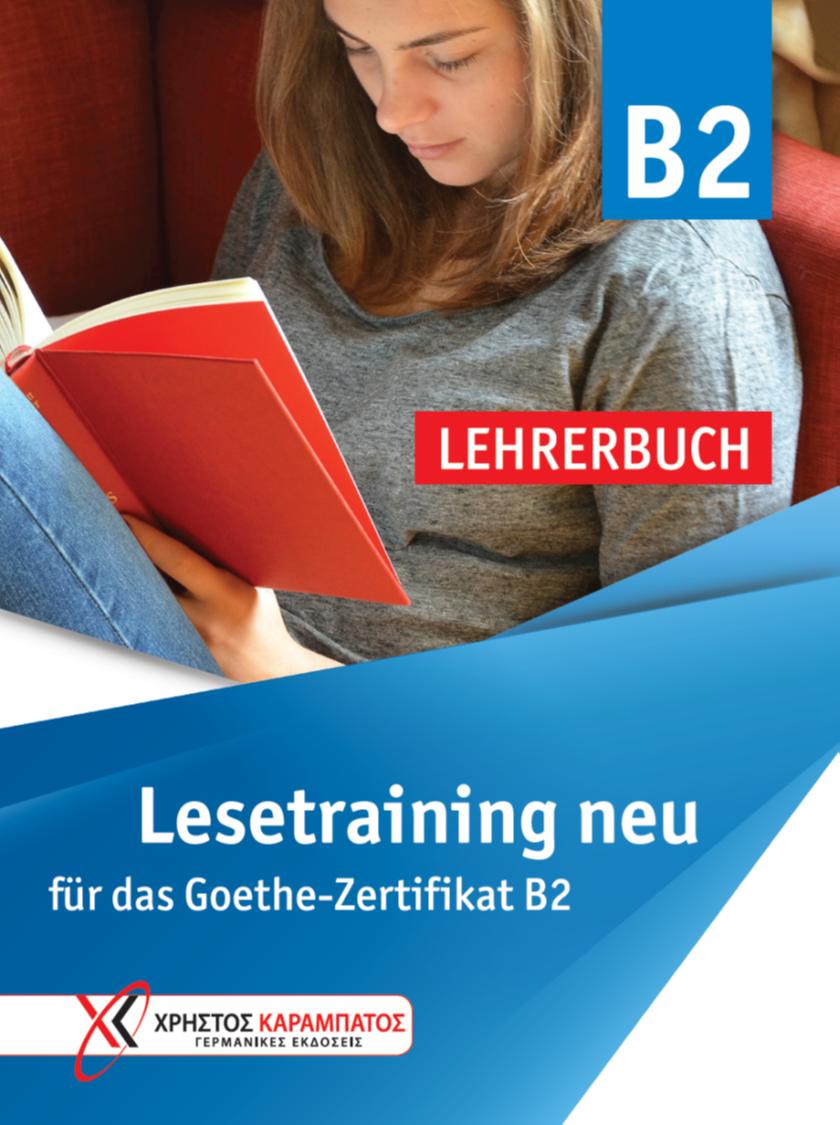 Εικόνα της Lesetraining B2 neu für das Goethe-Zertifikat B2 - Lehrerbuch (Βιβλίο του καθηγητή)