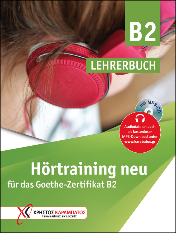 Εικόνα της Hörtraining B2 neu für das Goethe-Zertifikat B2 – Lehrerbuch mit MP3-CD (Βιβλίο του καθηγητή με ενσωματωμένο MP3-CD)